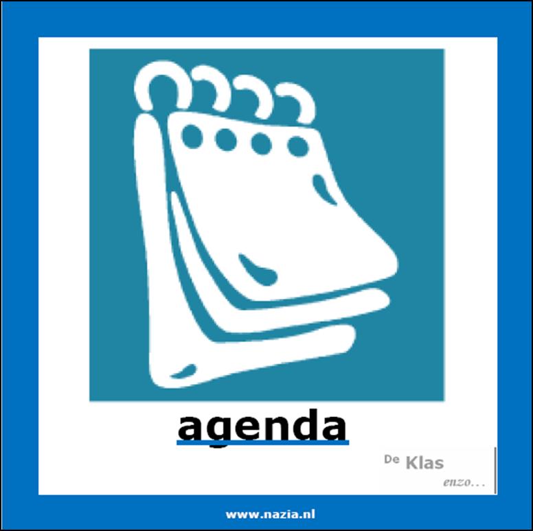 Agenda op het bord