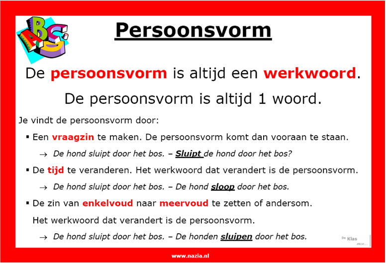 Persoonsvorm