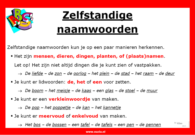 New Taal – werkbladen – www.nazia.nl – De klas enzo… #FL56